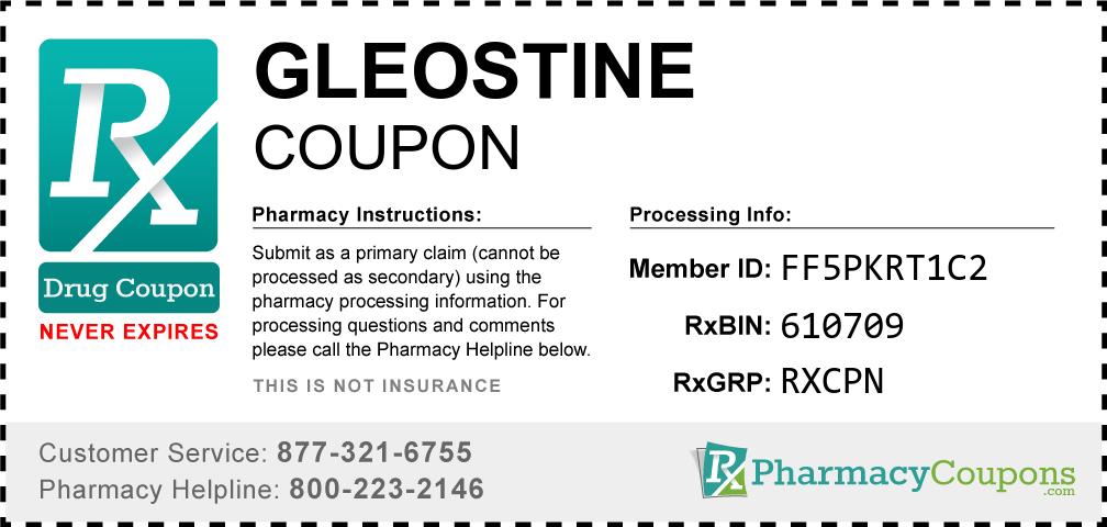 Gleostine Prescription Drug Coupon with Pharmacy Savings