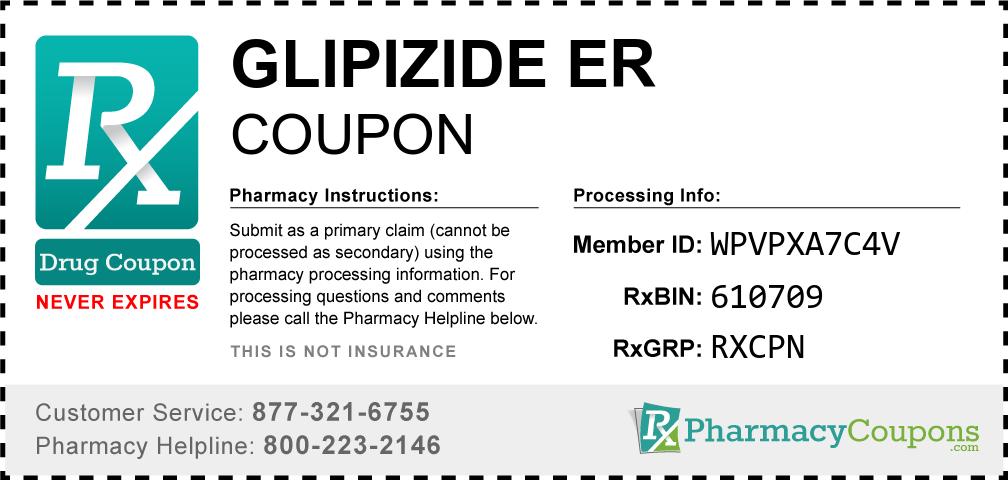Glipizide er Prescription Drug Coupon with Pharmacy Savings