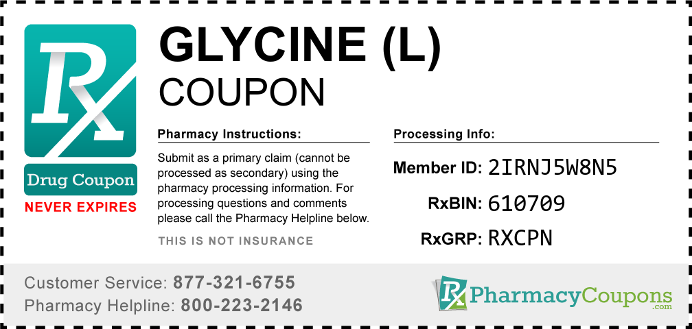 Glycine (l) Prescription Drug Coupon with Pharmacy Savings