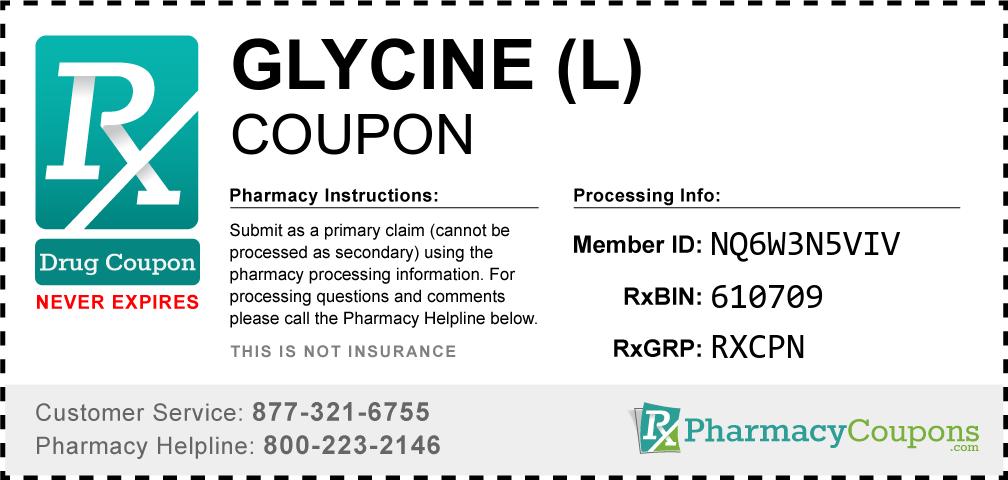 Glycine (l) Prescription Drug Coupon with Pharmacy Savings