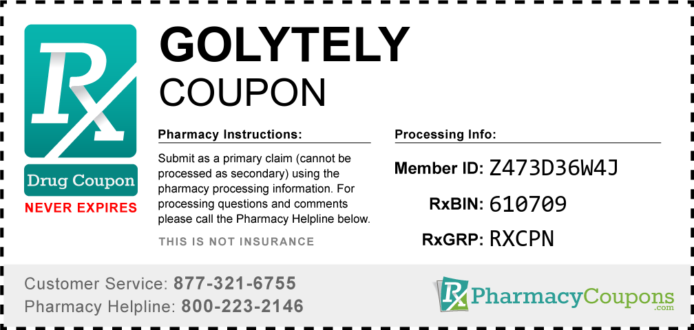 Golytely Prescription Drug Coupon with Pharmacy Savings