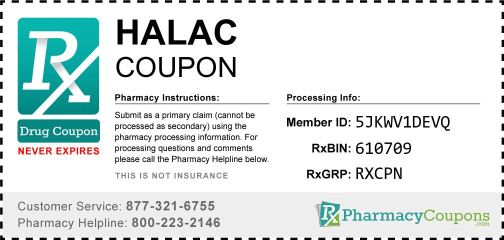 Halac Prescription Drug Coupon with Pharmacy Savings