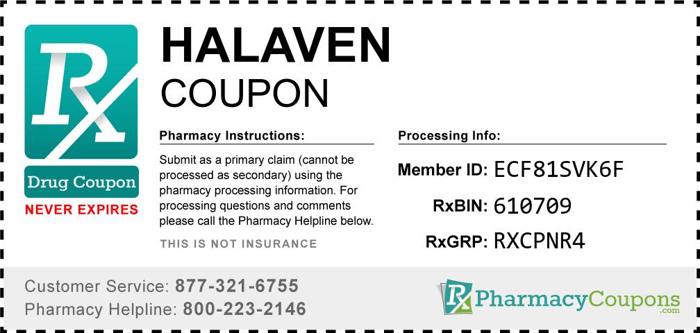 Halaven Prescription Drug Coupon with Pharmacy Savings