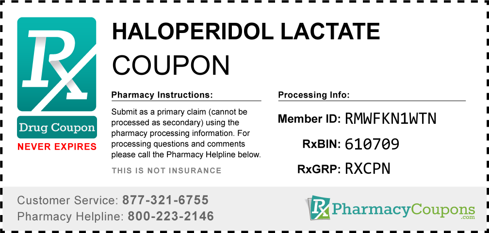 Haloperidol lactate Prescription Drug Coupon with Pharmacy Savings