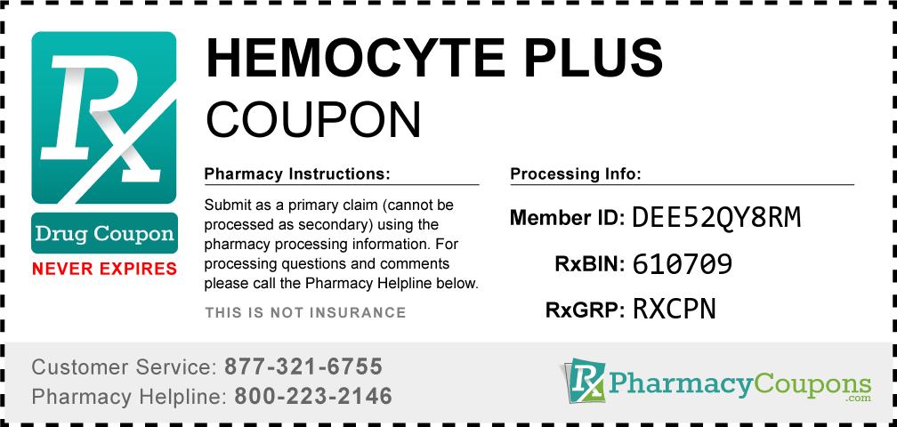 Hemocyte plus Prescription Drug Coupon with Pharmacy Savings