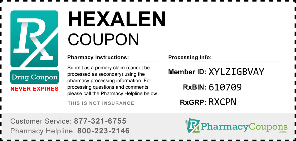 Hexalen Prescription Drug Coupon with Pharmacy Savings