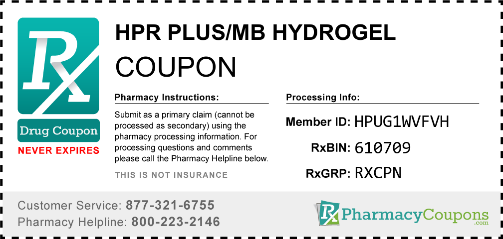 Hpr plus/mb hydrogel Prescription Drug Coupon with Pharmacy Savings