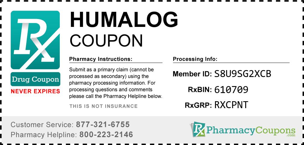 Humalog Prescription Drug Coupon with Pharmacy Savings