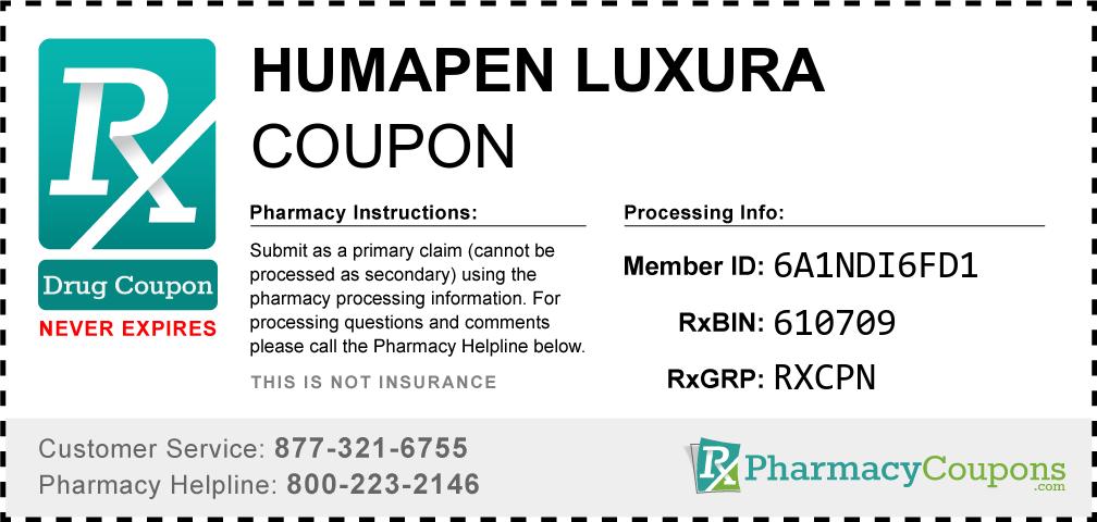 Humapen luxura Prescription Drug Coupon with Pharmacy Savings