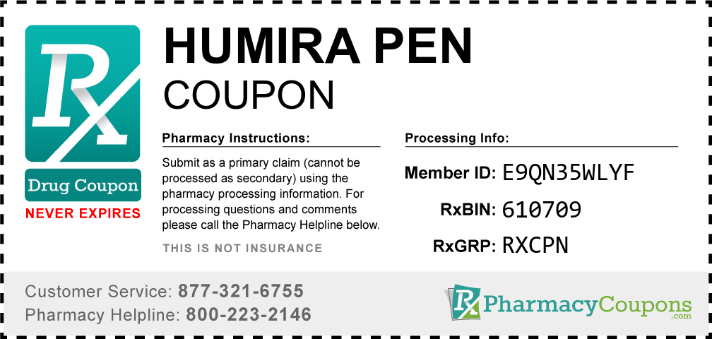 Humira pen Prescription Drug Coupon with Pharmacy Savings