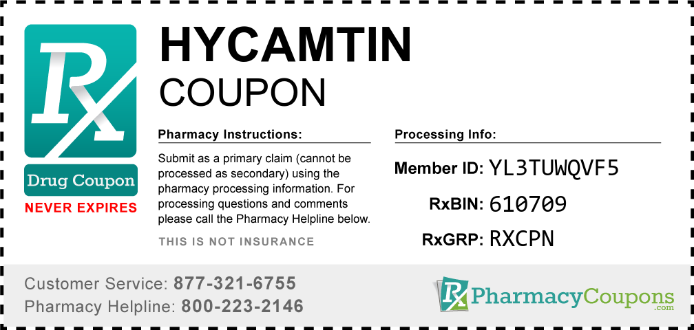 Hycamtin Prescription Drug Coupon with Pharmacy Savings