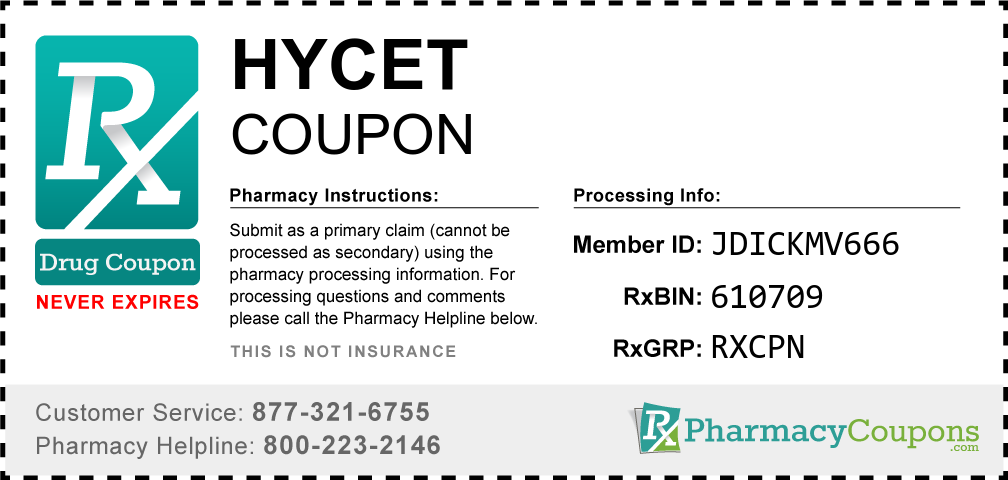 Hycet Prescription Drug Coupon with Pharmacy Savings