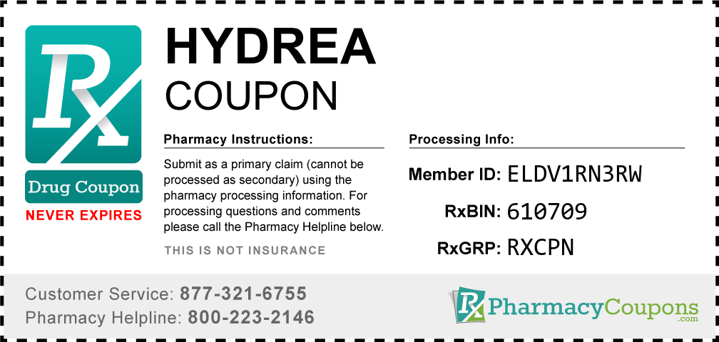 Hydrea Prescription Drug Coupon with Pharmacy Savings