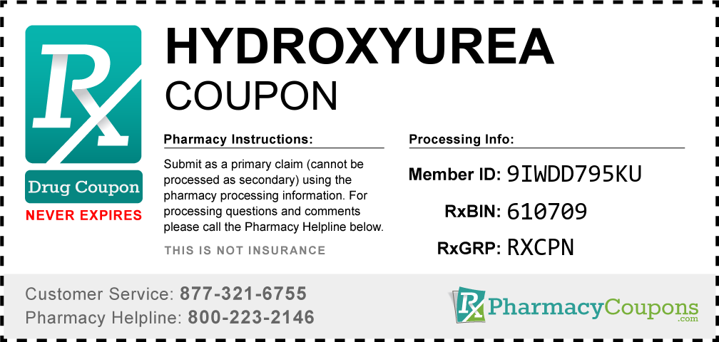 Hydroxyurea Prescription Drug Coupon with Pharmacy Savings