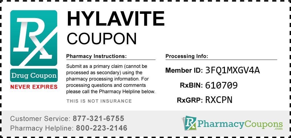 Hylavite Prescription Drug Coupon with Pharmacy Savings