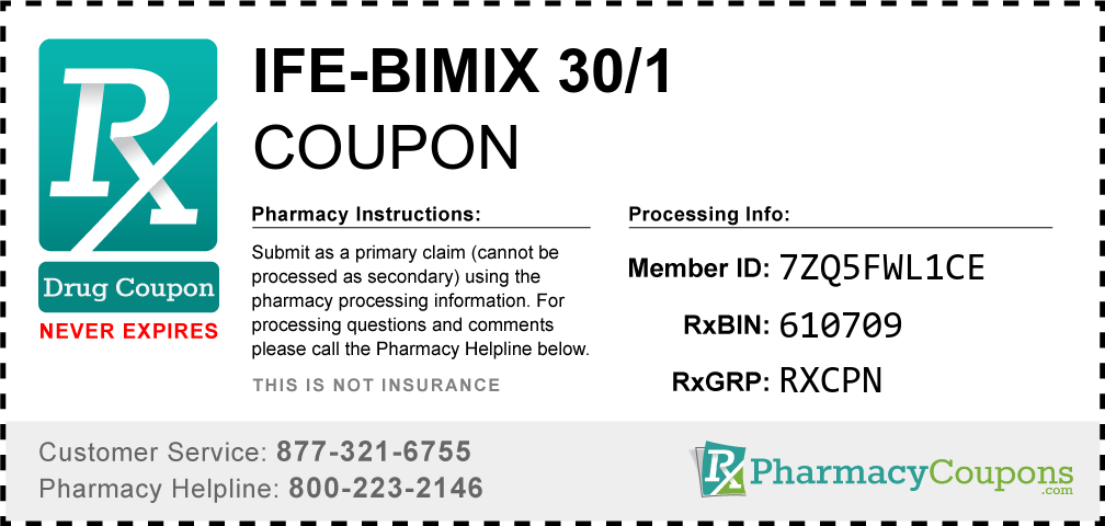 Ife-bimix 30/1 Prescription Drug Coupon with Pharmacy Savings