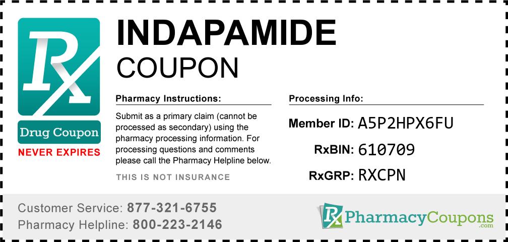 Indapamide Prescription Drug Coupon with Pharmacy Savings
