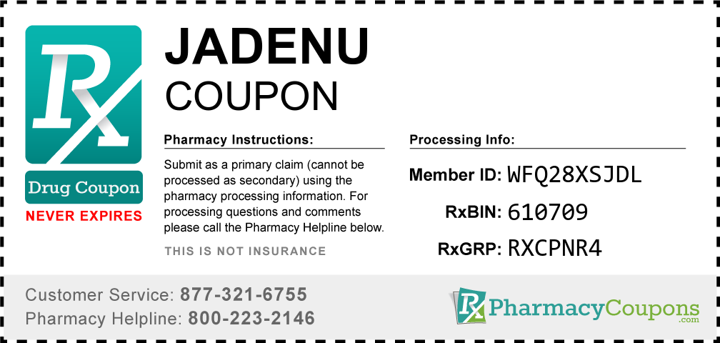 Jadenu Prescription Drug Coupon with Pharmacy Savings