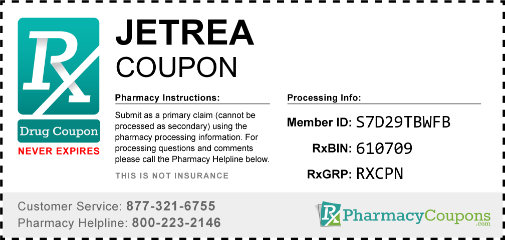 Jetrea Prescription Drug Coupon with Pharmacy Savings