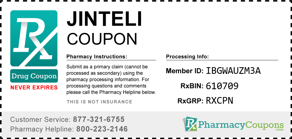 Jinteli Prescription Drug Coupon with Pharmacy Savings