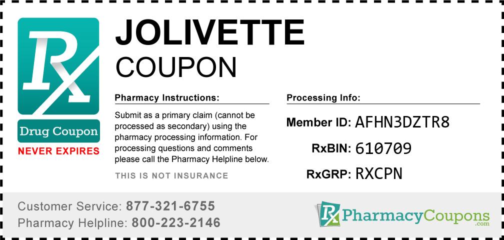 Jolivette Prescription Drug Coupon with Pharmacy Savings