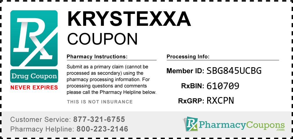 Krystexxa Prescription Drug Coupon with Pharmacy Savings