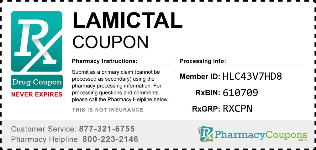 Lamictal Prescription Drug Coupon with Pharmacy Savings