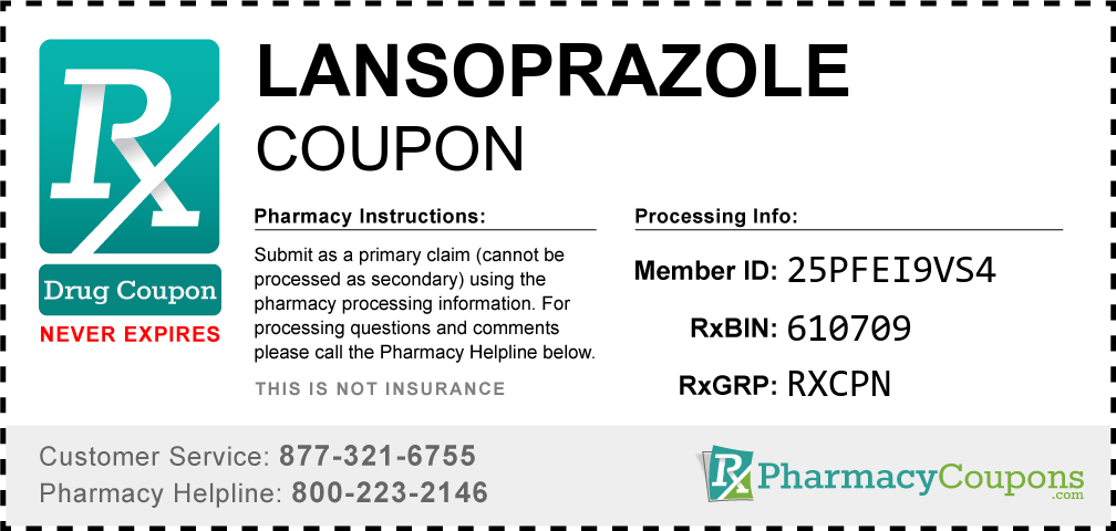 Lansoprazole Prescription Drug Coupon with Pharmacy Savings
