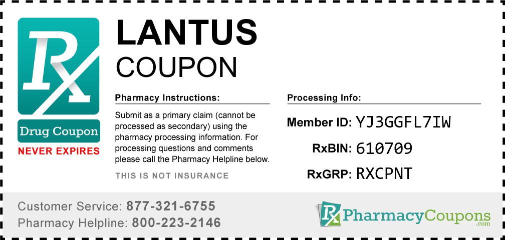 Lantus Prescription Drug Coupon with Pharmacy Savings