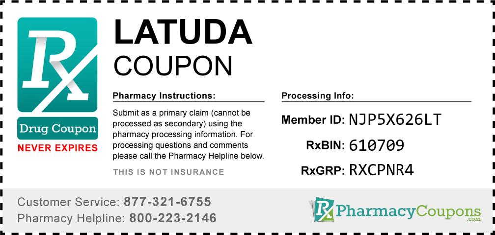 Latuda Prescription Drug Coupon with Pharmacy Savings
