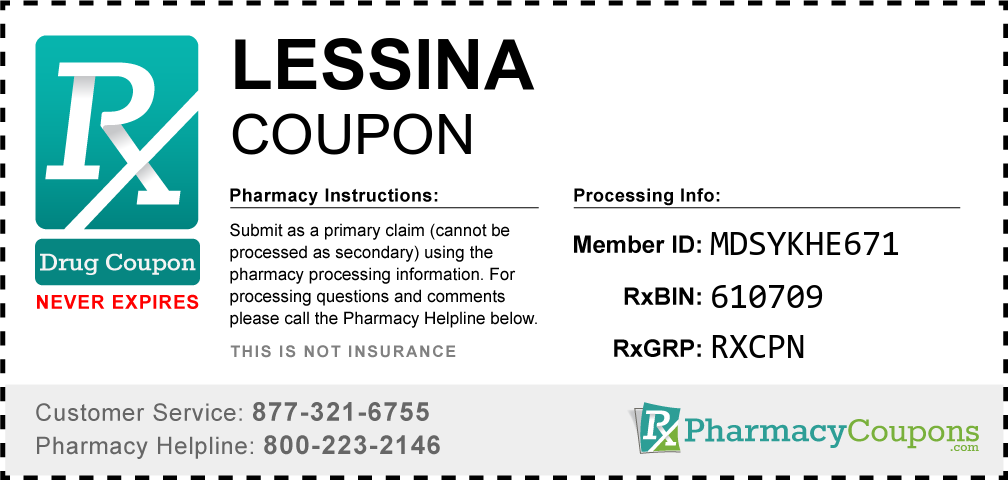 Lessina Prescription Drug Coupon with Pharmacy Savings