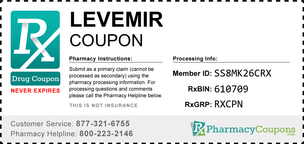 Levemir Prescription Drug Coupon with Pharmacy Savings