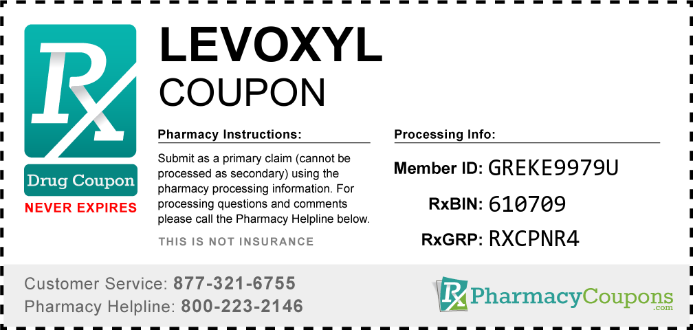 Levoxyl Prescription Drug Coupon with Pharmacy Savings