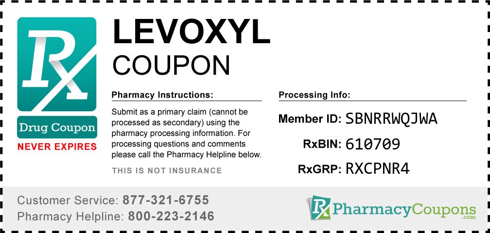 Levoxyl Prescription Drug Coupon with Pharmacy Savings