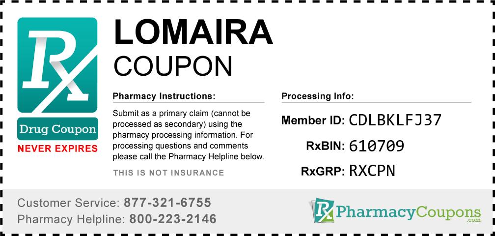 Lomaira Prescription Drug Coupon with Pharmacy Savings