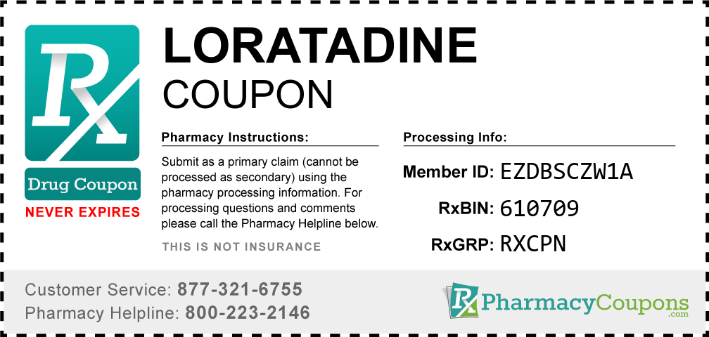 Loratadine Prescription Drug Coupon with Pharmacy Savings