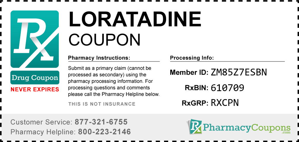 Loratadine Prescription Drug Coupon with Pharmacy Savings