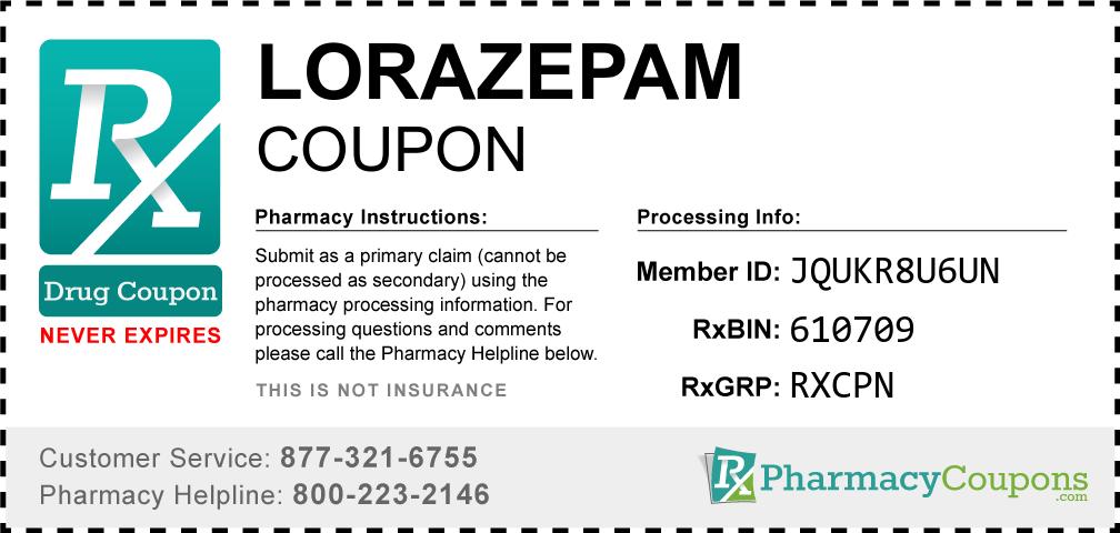 Lorazepam Prescription Drug Coupon with Pharmacy Savings
