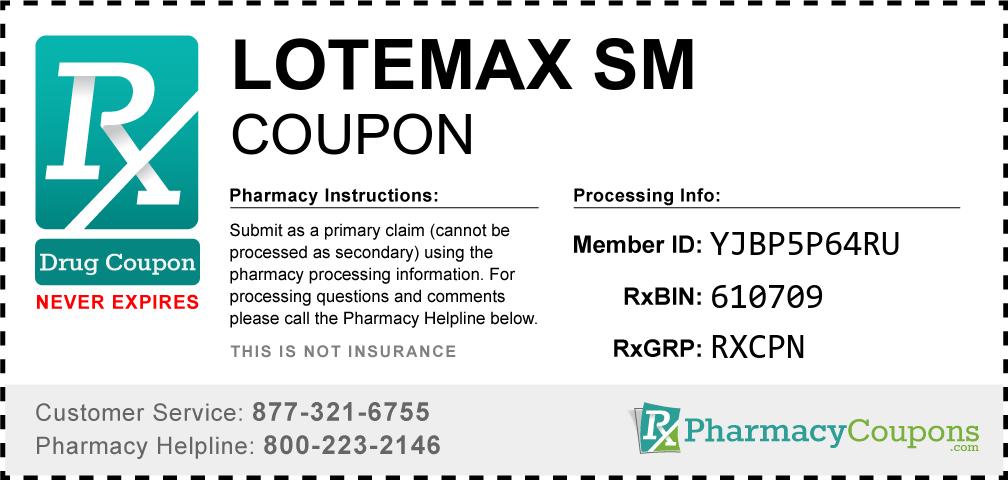 Lotemax sm Prescription Drug Coupon with Pharmacy Savings