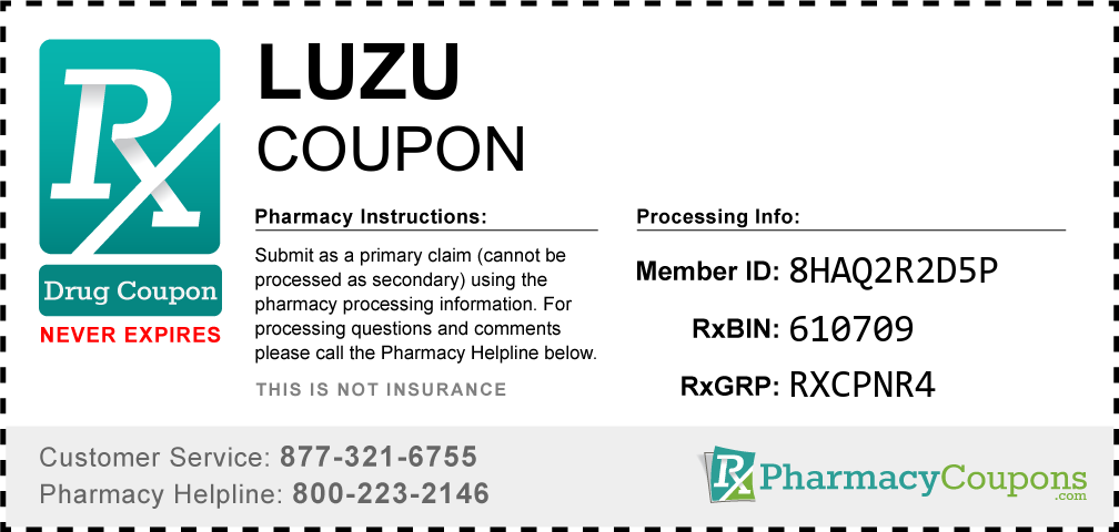 Luzu Prescription Drug Coupon with Pharmacy Savings