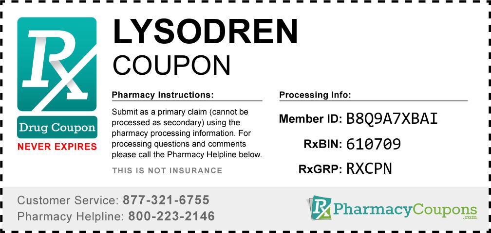 Lysodren Prescription Drug Coupon with Pharmacy Savings