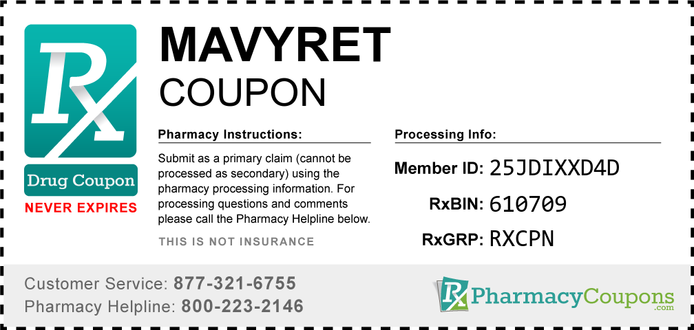 Mavyret Prescription Drug Coupon with Pharmacy Savings