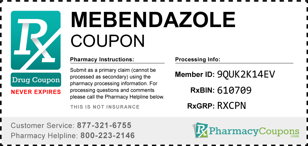 Mebendazole Prescription Drug Coupon with Pharmacy Savings