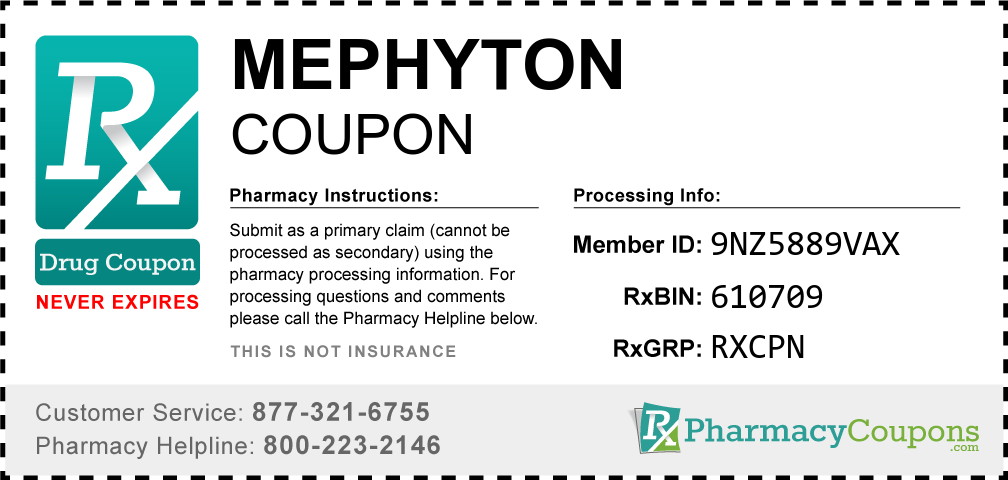 Mephyton Prescription Drug Coupon with Pharmacy Savings