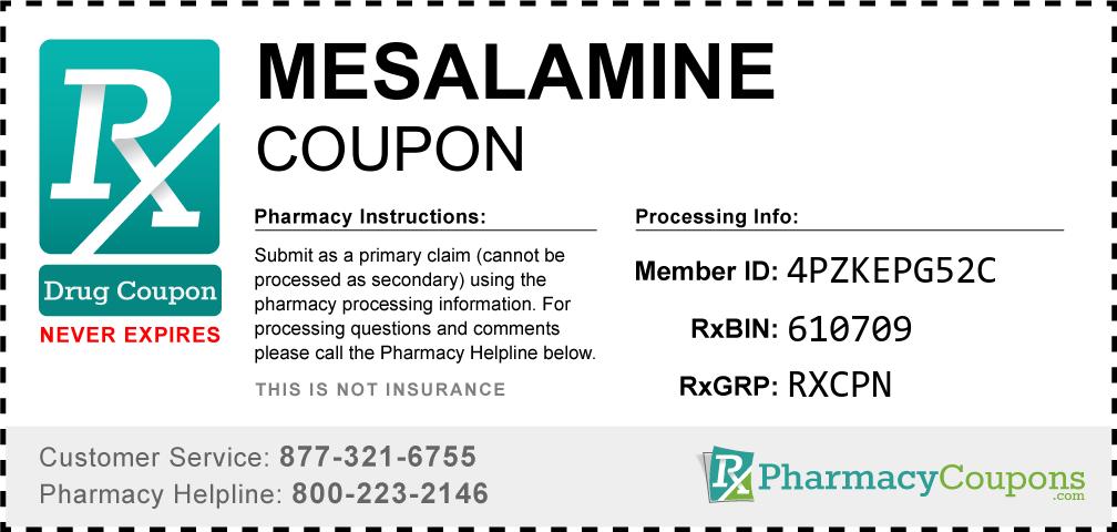 Mesalamine Prescription Drug Coupon with Pharmacy Savings