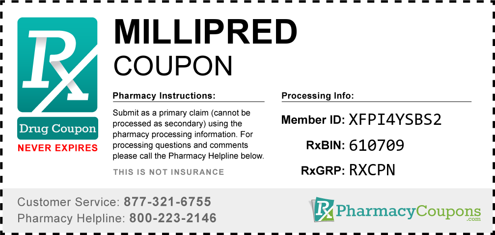 Millipred Prescription Drug Coupon with Pharmacy Savings