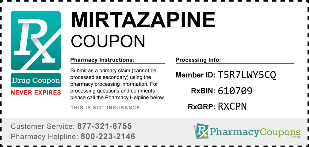 Mirtazapine Prescription Drug Coupon with Pharmacy Savings