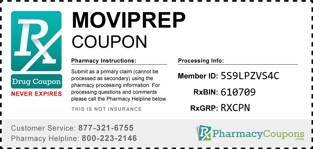 Moviprep Prescription Drug Coupon with Pharmacy Savings