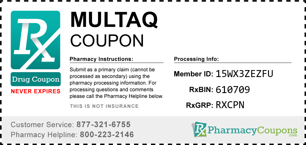 Multaq Prescription Drug Coupon with Pharmacy Savings