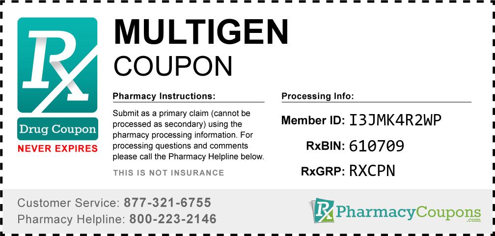 Multigen Prescription Drug Coupon with Pharmacy Savings